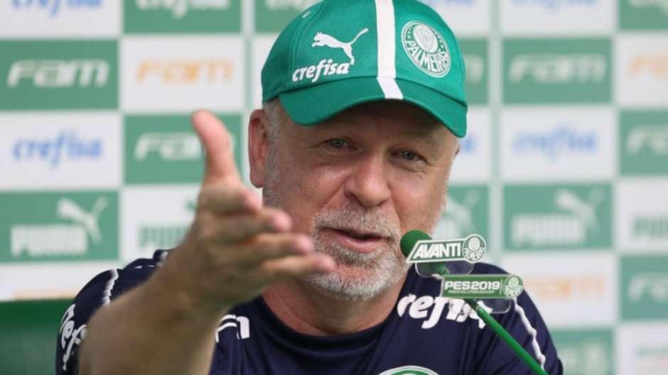 Mano Menezes venceu as três partidas em que comandou o Palmeiras até aqui (Foto: Cesar Greco/Ag. Palmeiras) Foto: Lance!