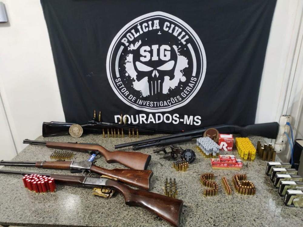 Polícia Civil, por meio do SIG de Dourados, apreende um arsenal